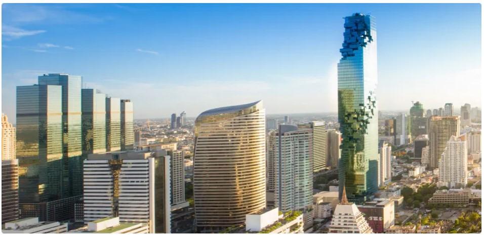 ביקור מרפסת התצפית הגבוהה בבנגקוק עם רצפת הזכוכית (SkyWalk)