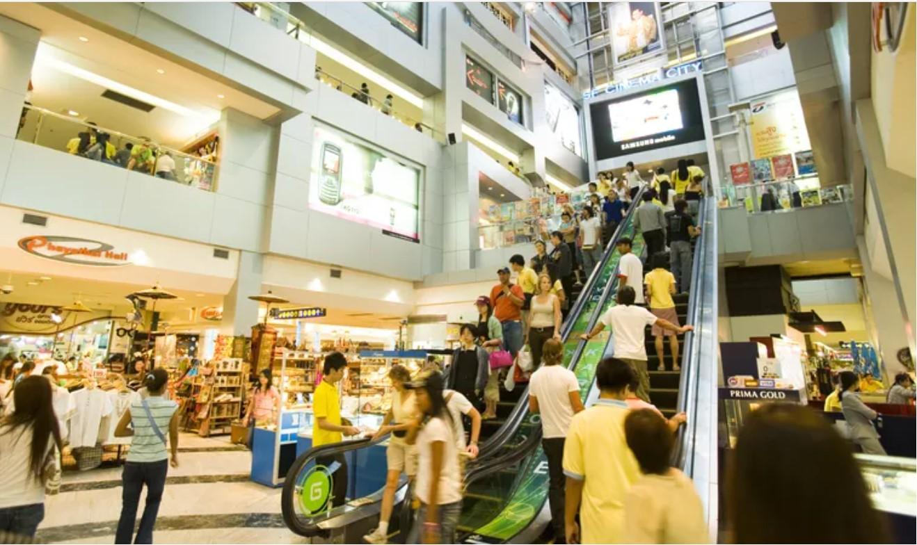 הכניסה הראשית לקנין MBK בבנגקוק