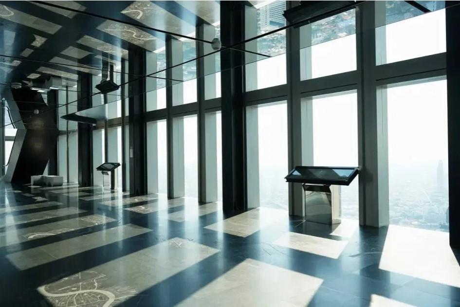 קומה 74 סיפון תצפית מקורה של 360 מעלות Skywalk