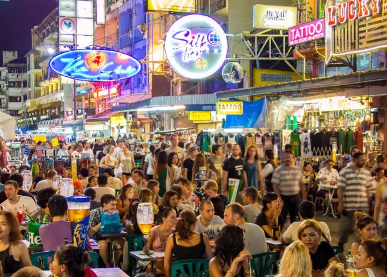 רחוב קאו סאן בבנגקוק Khao San Road